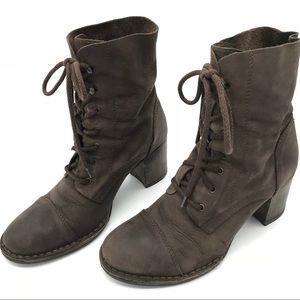 Shoes - Cucai Leather Laceup Ankle Boots